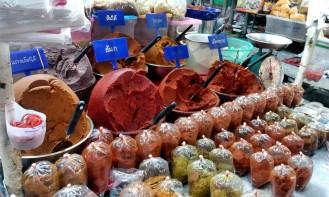 Thonburi train station market.