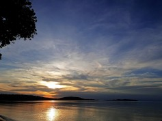 Sunset at ssese Island.